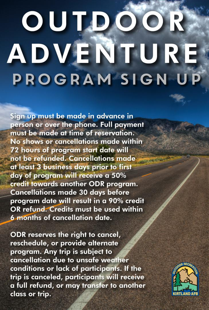 The 2019 Outdoor Adventure Program Calendar Now