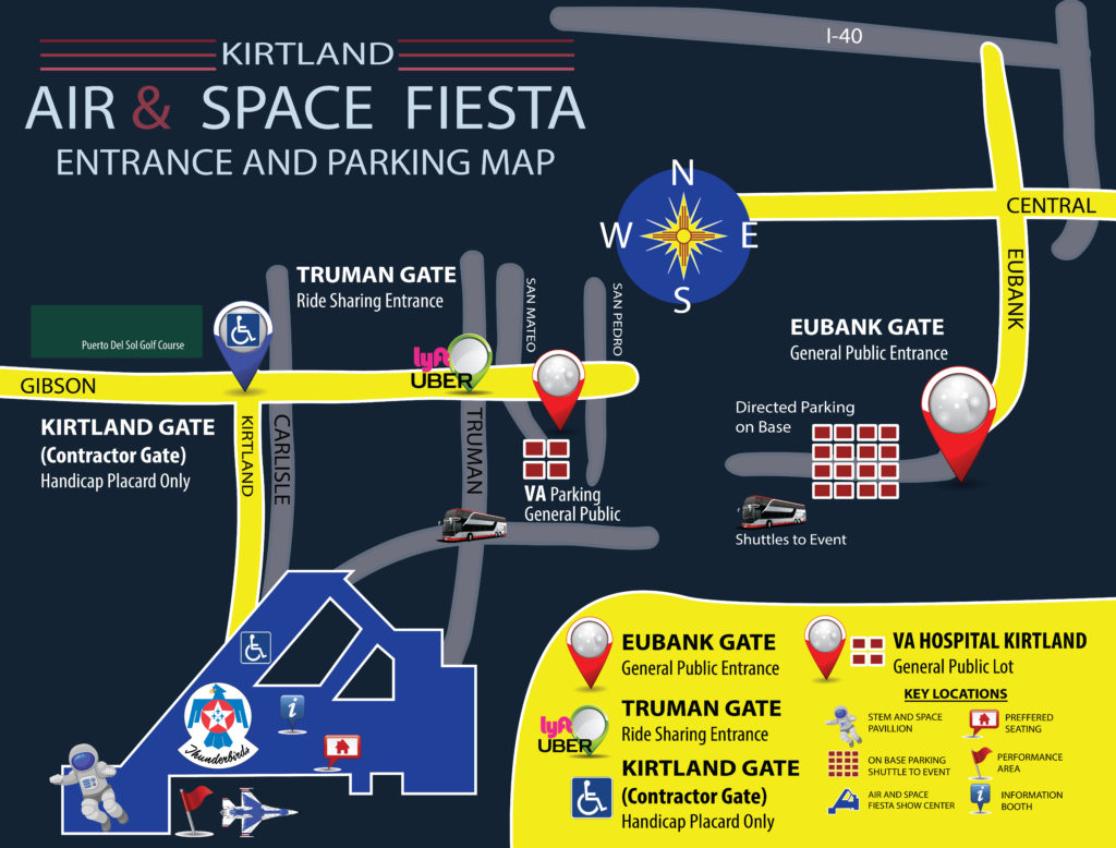 On Base parking location for 2019 KAFB Air Show