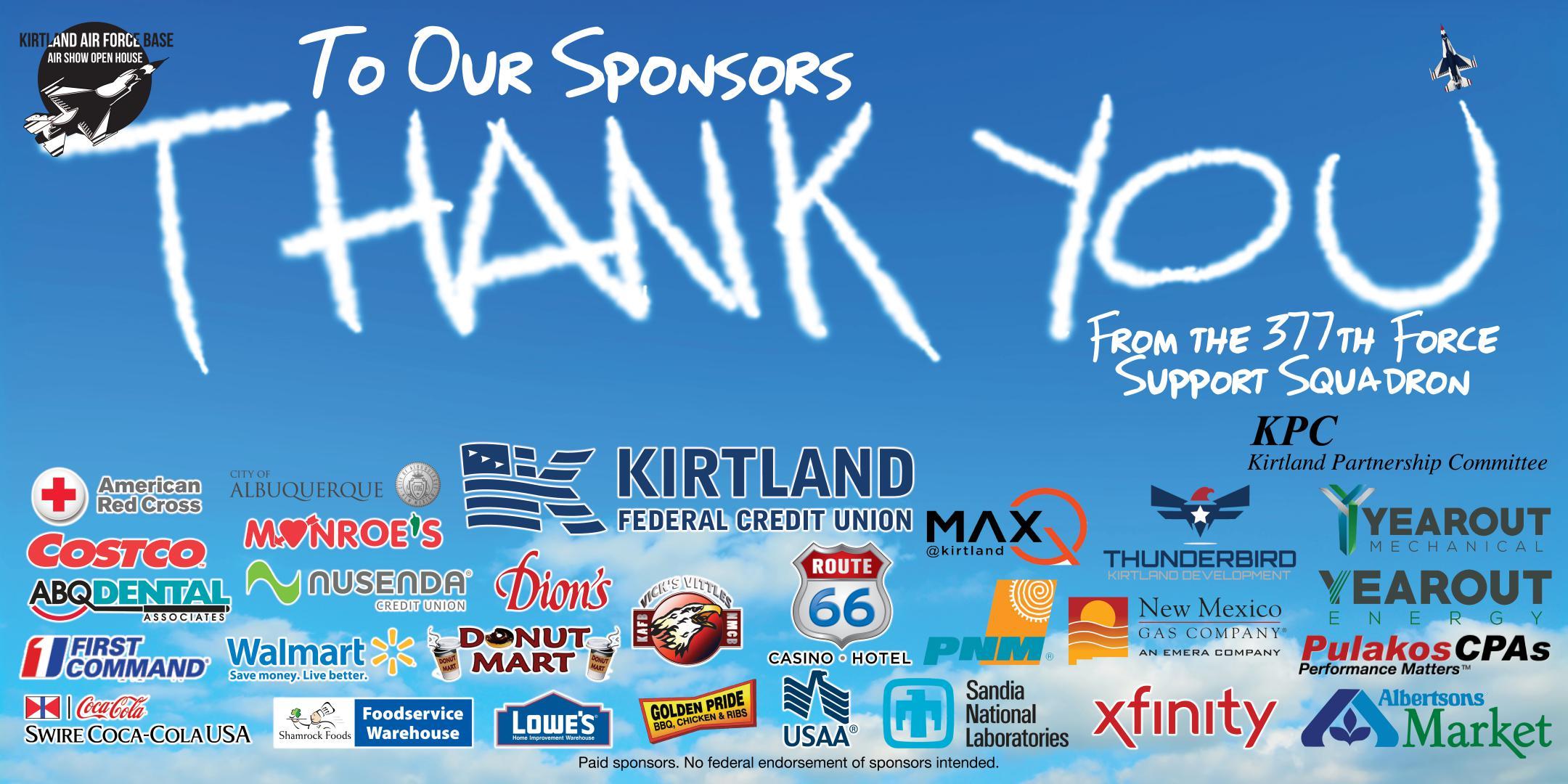 2019 Kirtland Air Show Sponsors