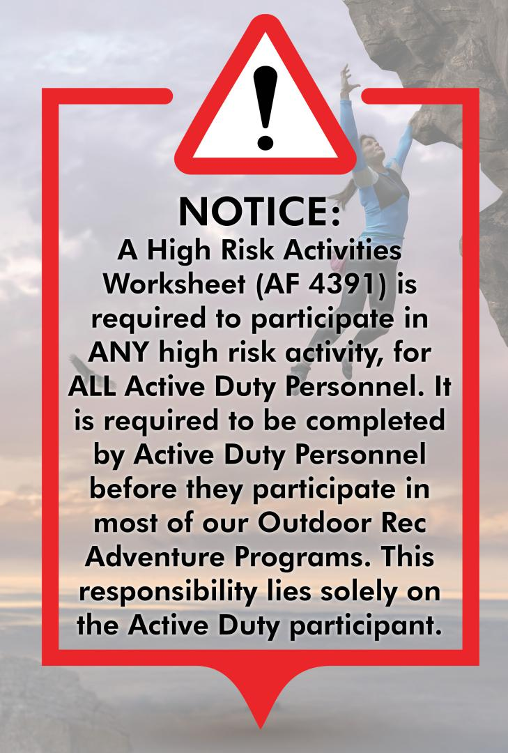 Active Duty High Risk Activity Form